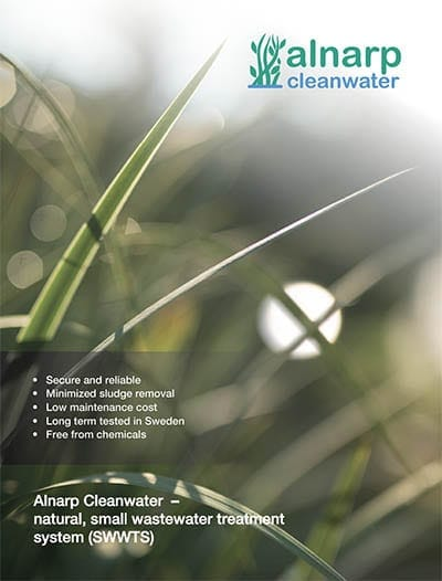 Alnarp Cleanwater natural, small wastewater treatment system